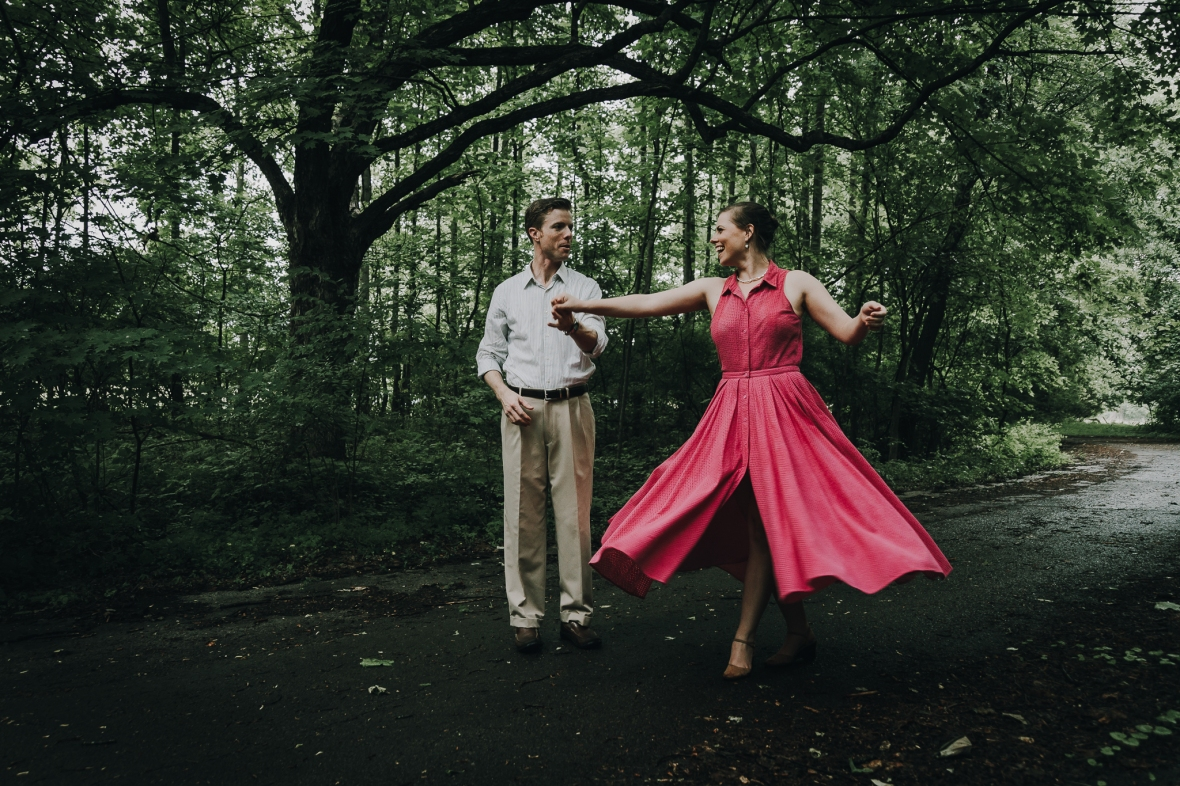 Rainy Day Engagement Photos Louisville Kentucky